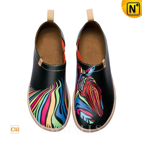 Painted Slip Ons painted slip on shoes cw700118