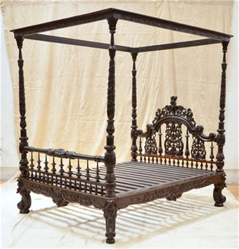 traditional indian furniture designs anglo indian carved bed in madam cama road colaba mumbai