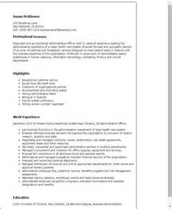 resume templates for administrative officers examsup cinemark professional administrative officer templates to showcase your talent myperfectresume