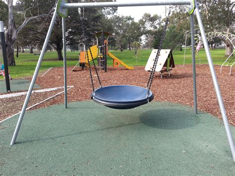 round swing eastern park playground ryrie street side east geelong