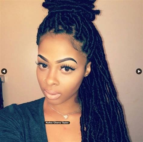 dreadlocks and weave combined together for a hairstyle fake dreads locs hair and beauty pinterest rastas y locs