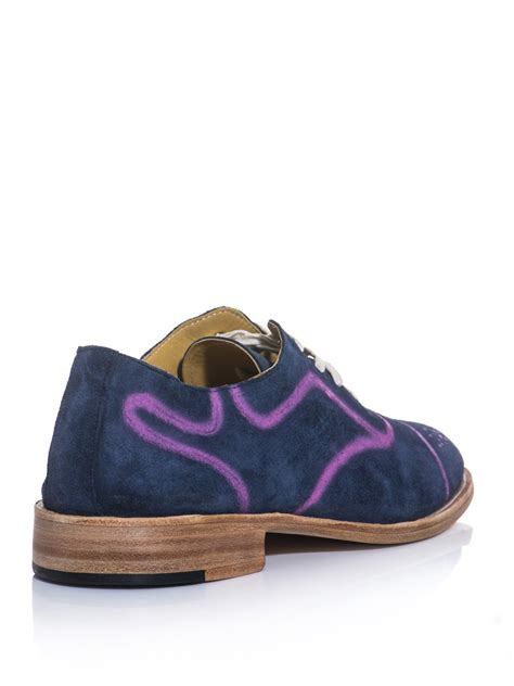 esquivel spray paint suede brogue shoes for oublogg