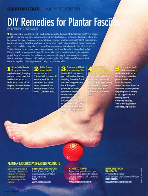 easy remedies for plantar fasciitis runners running