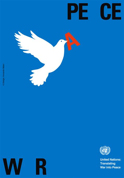 Peace War united nations 60th anniversary graphis