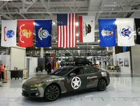Tesla Recruiting Custom Tesla Model X Thanks Company S Veterans Model S