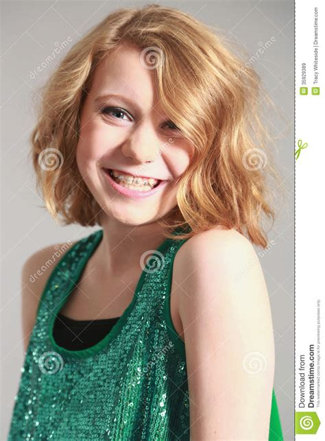 blonde models with braces blonde girl with braces stock image image of fashion