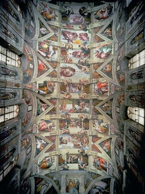 Ceiling Of The Sistine Chapel By Michelangelo by Sistine Chapel Ceiling 1508 12 Gicl 233 Edruk