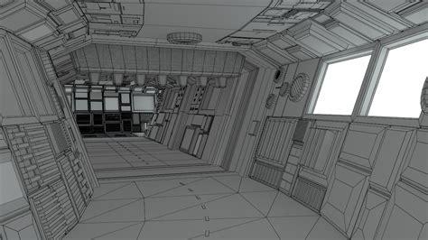 sci fi corridors construction kit  model obj lwo lw lws