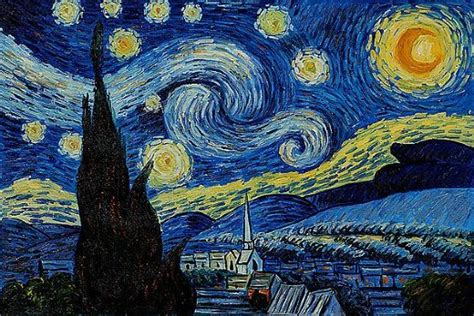 drakorindo gogh the starry night van gogh starry night art appreciation practical pages