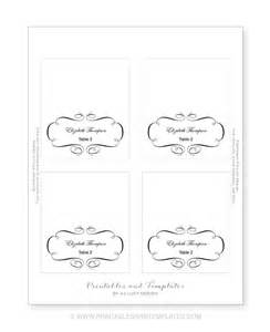 place card template free 6 per page 7 best images of wedding place cards templates martha