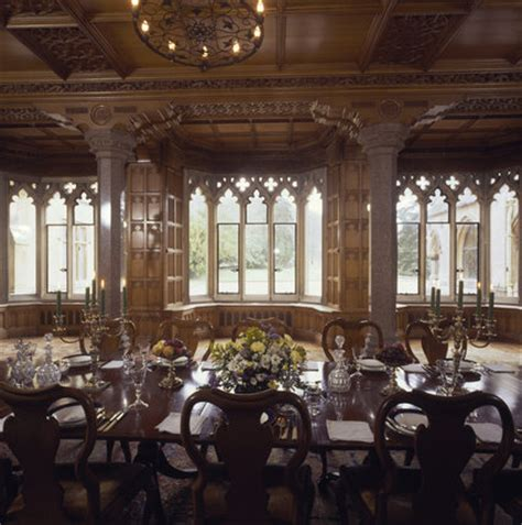 gothic dining room medium view of dining room at tyntesfield towards lancet