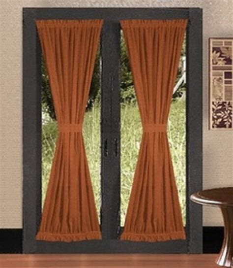 french door panel curtains 14 best images about french door treatments on pinterest