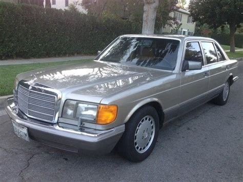 how to learn about cars 1990 mercedes benz s class auto manual buy used 1990 mercedes benz 560sel only 66k original miles one owner in huntington beach