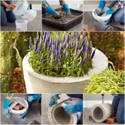 diy garden planters how to diy concrete garden planter