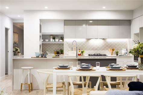 light grey home with a mix of old and new via home designing 30 gorgeous grey and white kitchens that