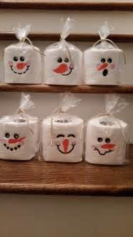 Snowman Paper Crafts - snowman toilet paper embroidery