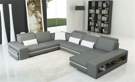 white and grey leather sofa divani casa 5070 modern grey and white bonded leather