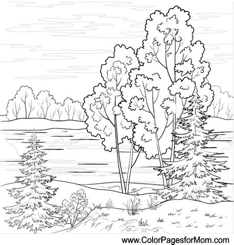 coloring pages for adults landscapes landscape coloring page 16 colorpagesforadults coloring