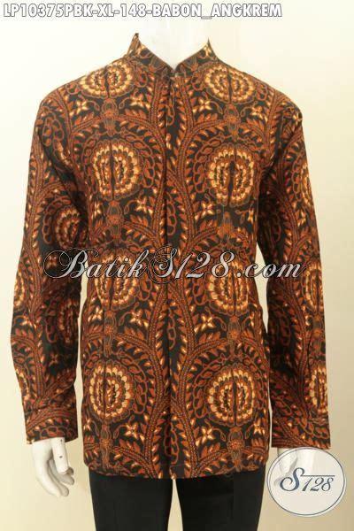 Batik Tulis Motif Babon Angkrem hem batik klasik motif babon angkrem lengan panjang krah