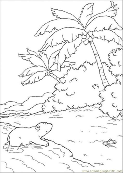 island coloring pages and water coloring pages