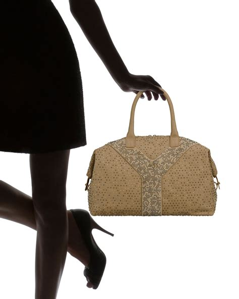 Studd Bags yves laurent studd embellished large tote ysl cabas
