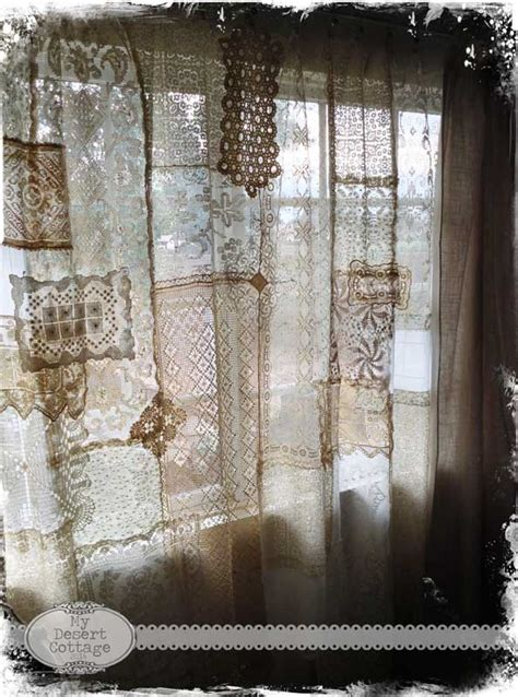 dying lace curtains my desert cottage what i did with all that lace