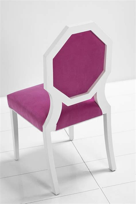 www roomservicestore octagon dining chair in pink velvet