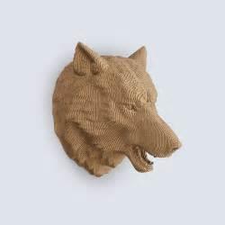 wolf head trophy diy cardboard craft