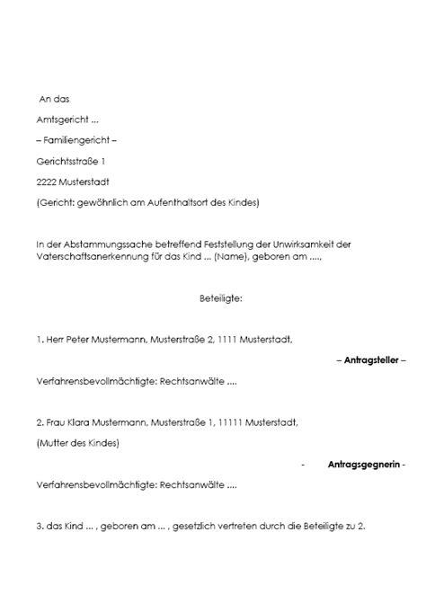 Antrag Familiengericht Vorlage Vertrag Vorlage Digitaldrucke De Antrag Auf Feststellung Der Anf 228 Nglichen Unwirksamkeit Der