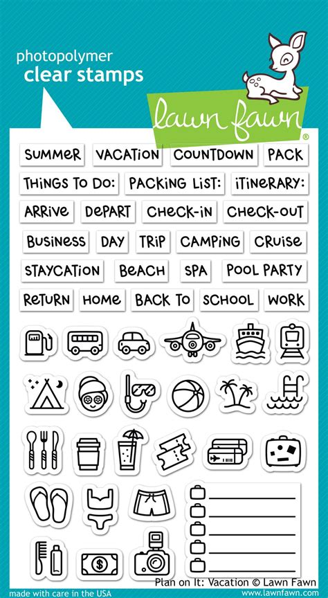 plan   vacation lawn fawn