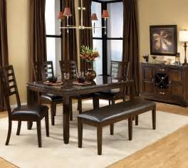 dining room sets bench standard furniture bella 7 piece dining room set w bench