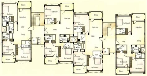 Apartment Architecture Design Plans Apartment Unit Plans Apartments Typical Floor Plan
