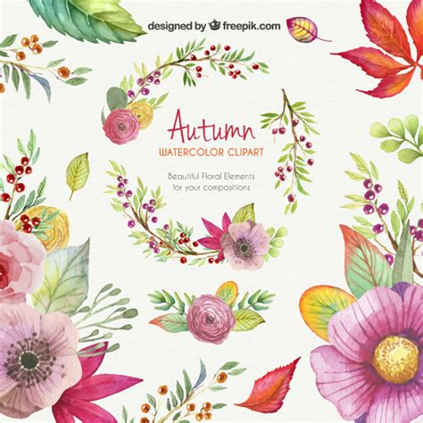 free vector clipart autumn watercolor clipart vector free