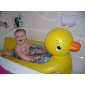 blow up rubber ducky bathtub inflatable rubber ducky baby bath newmommyreviews