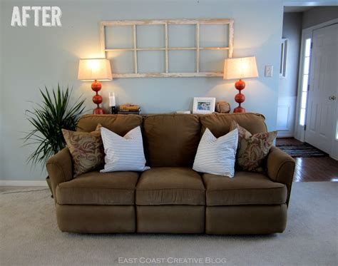table behind couch against wall faux sofa table tutorial east coast creative blog
