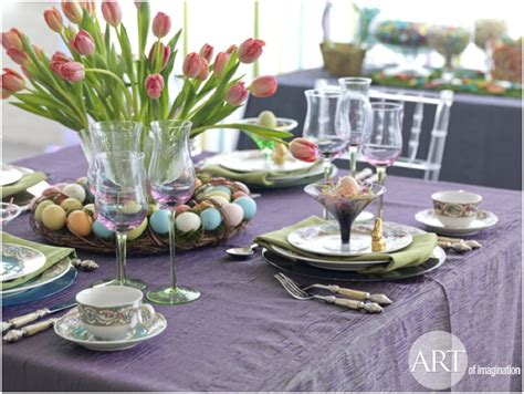 spring table settings ideas easter table settings decor ideas art of