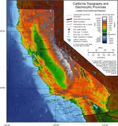 southern california mountain ranges map geography of california