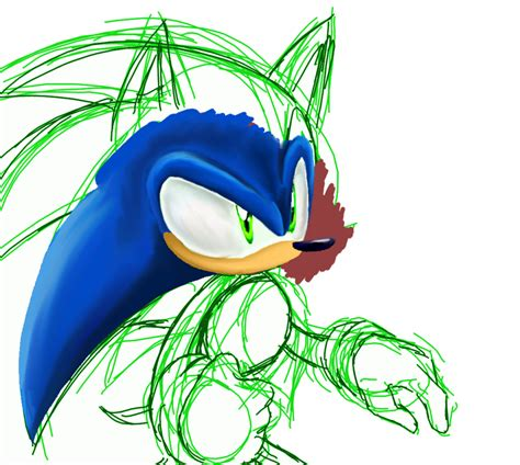 sonic painting sonic painting wip by chicaaaaa on deviantart