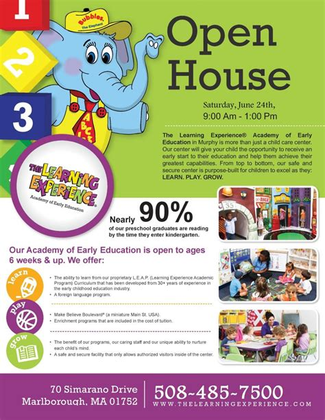the learning house open house at the learning experience marlborough regional chamber of commerce