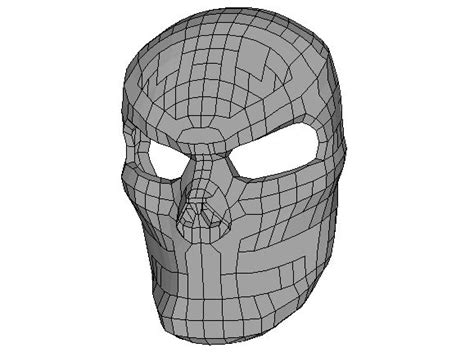 Papercraft Skull Mask - size skull mask papercraft for free