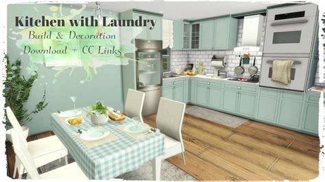 decor links sims 4 kitchen with laundry build decoration for