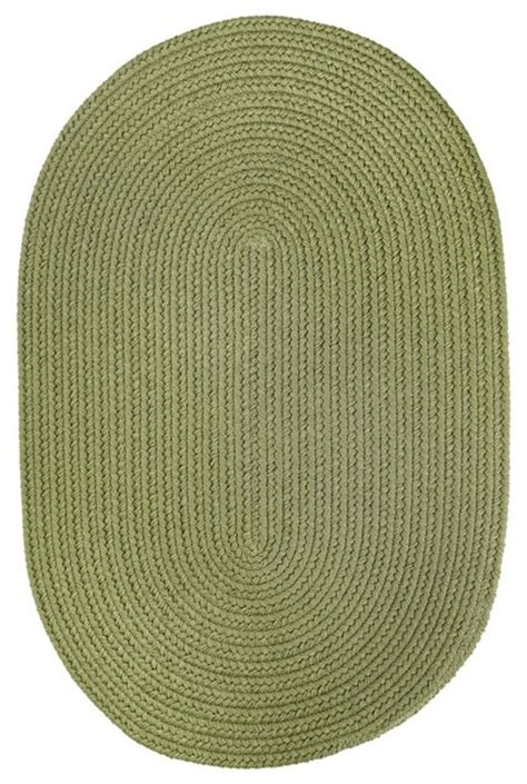 Oval Braided Rugs 5x8 by 5 X8 Oval 5x8 Rug Olive Green Solid Carpet Braided