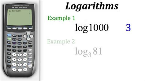 calculator ln how to solve logarithmic equations with a graphing