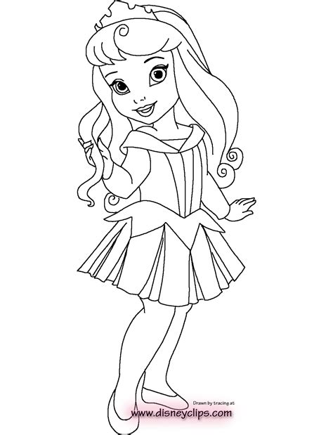Little Girl Princess Coloring Page | little princess coloring pages download and print for free