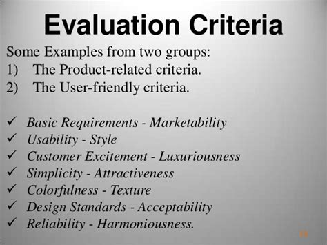 design competition evaluation criteria multi criteria decision support system on mobile phone