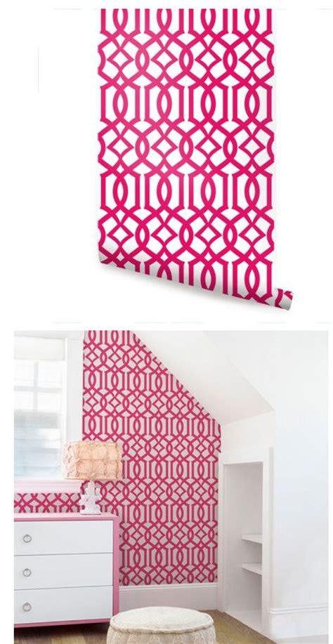 modern trellis wallpaper peel and stick modern trellis hot pink peel and stick wallpaper