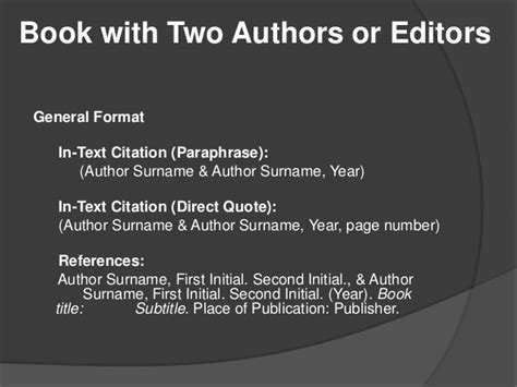 book reference apa two authors apa citation style 6th edition