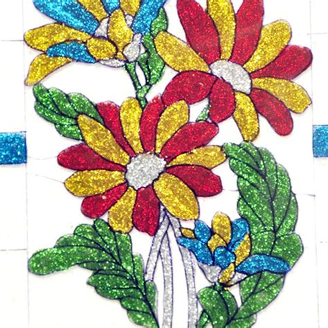 flower design for glass painting flowers glass painting online shopping