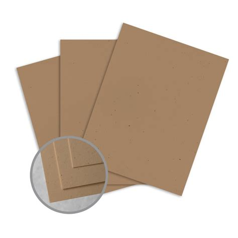 card paper stock kraft card stock 8 1 2 x 11 in 80 lb cover smooth fiber