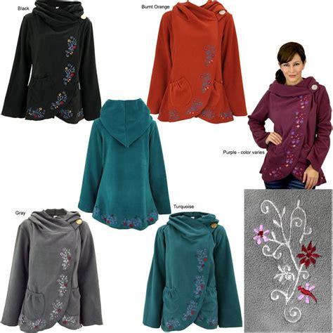 Myu Robot Fleece Jacket flowering vines fleece wrap jacket my sweet style